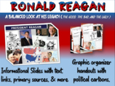 Ronald Reagan: quotes, cartoons, foreign/domestic legacy PPT & handout