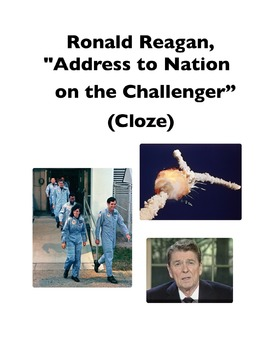 """Ronald Reagan's """"Address to the Nation on the Challenger"""" (Full-Text Cloze)"""
