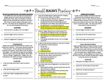 Ronald Reagan's Presidency
