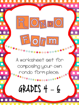 Rondo Form Worksheets - Free!