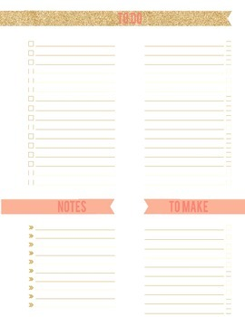 Room 016 | To Do List, To Make, & Notes Planner