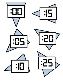 Room Decor: Analog Clock Labels with digital number font