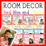 Simple and Time Saving Red, Blue and Yellow Room Decor BUNDLE