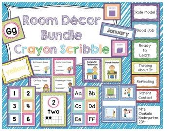 Room Decor Bundle - Crayon Scribble