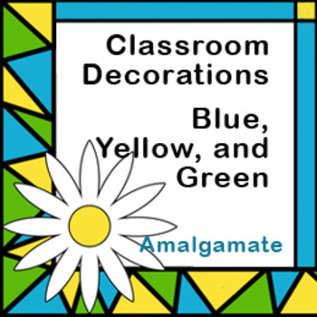 Room Decoration: Blue, Yellow, and Green with Daisies