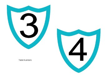 Room Labels - Arrows and Shields