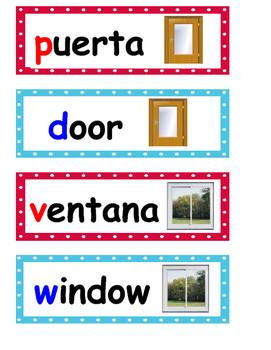 Room Labels Dual Language