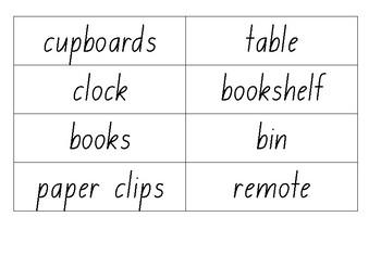 Room Labels EAL/D