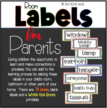 Room Labels for Parents