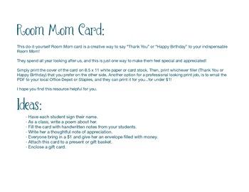 Room Mom Card