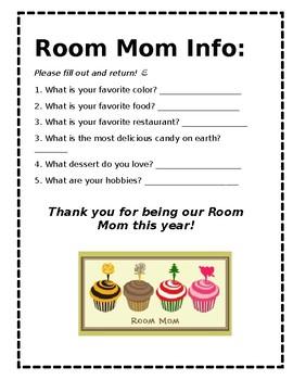 Room Mom Info Page