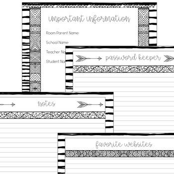 Room Mom Planner and Forms