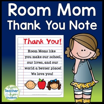 Room Mom Thank You Note Card