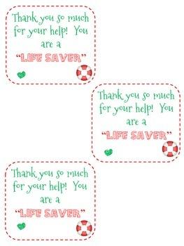 Room Mom Thank You Gift Tag: Freebie
