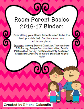 Room Parent Basics 2016-2017 Binder