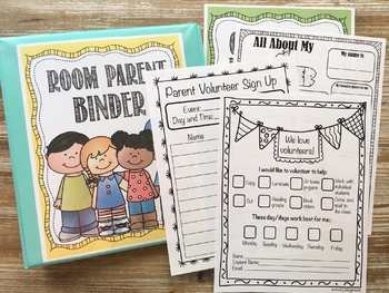 Room Parent~Room Mom & Parent Volunteer Pack Bundle~  Editable
