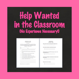 Room Parent Sign Up, Classroom Help Sign Up Form, Back to School Forms, Editable