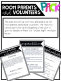 Room Parent/ Volunteer Freebie