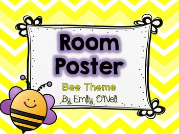 Room Poster (Bee Theme)
