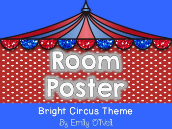 Room Poster (Bright Circus Theme)