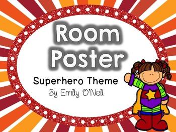 Room Poster (Superhero Theme)