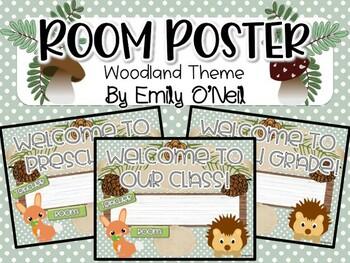 Room Poster (Woodland Theme)