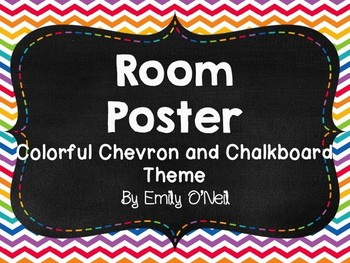 Room Posters (Colorful Chevron & Chalkboard Theme)