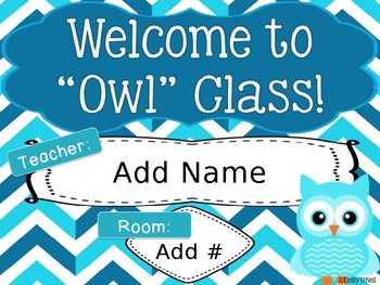 Room Posters (Owl Theme)