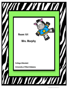 Room Signs, Zebra-Themed