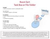 Room Sort Workbox or File Folder