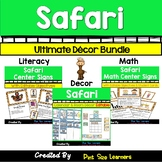 Jungle Safari Themed Classroom Decor BUNDLE | Posters | Calendar | Center Signs