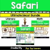 Jungle Safari Themed Classroom Decor BUNDLE | Posters | Calendar | Center Signs