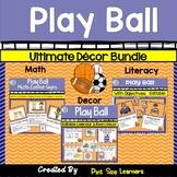 Sports Themed Classroom Decor Bundle | EDITABLE | Posters | Centers | Calendar