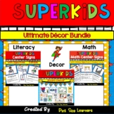 Superhero Themed Classroom Decor Bundle | EDITABLE | Super Hero Classroom