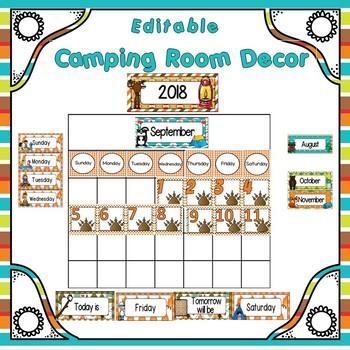Room Theme ~ Camping {Editable}