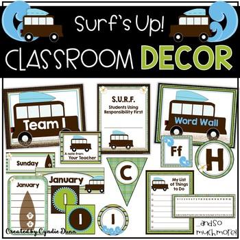 Classroom Decor Surfing