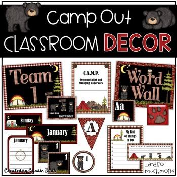 Classroom Decor Camping