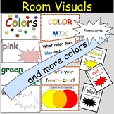 Colors Wall Displays  Word Wall Flashcards and Color Mix D