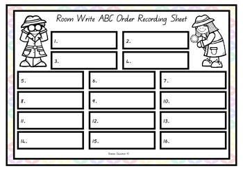 Write the Room - Alphabetical Ordering