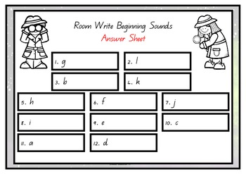 Write the Room – Beginning Sounds A – L