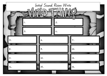 Write the Room -  Initial Sounds