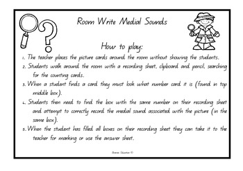 Write the Room - Medial Sounds Set 1