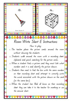 Write the Room - Silent E/Magic E/Bossy E