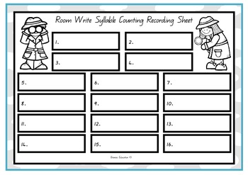 Write the Room - Syllables Set 1
