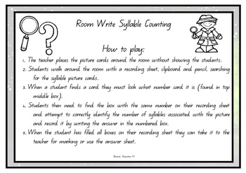 Write the Room - Syllables Set 3