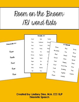 Room on the Broom: Word Lists for R