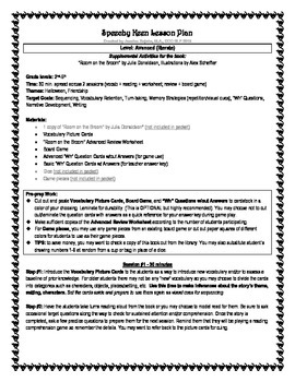 """Room on the Broom"" Advanced Lesson Plan"