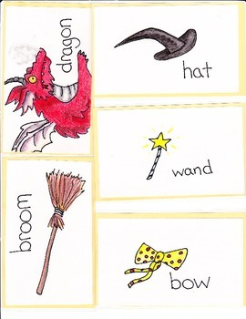 """Room on the Broom""_Vocabulary Picture Cards"