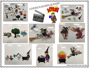 Room on the Broom Book Companion Whiteboard Props Speech Therapy Halloween SPED
