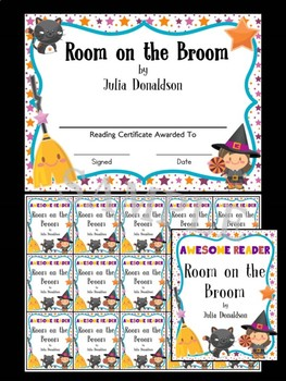 Room on the Broom - Bookworms Reading Certificate and Brag Tags Set